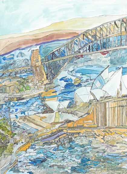 Original 16006 Sydney Opera House and Harbour Bridge - Painted in 2016