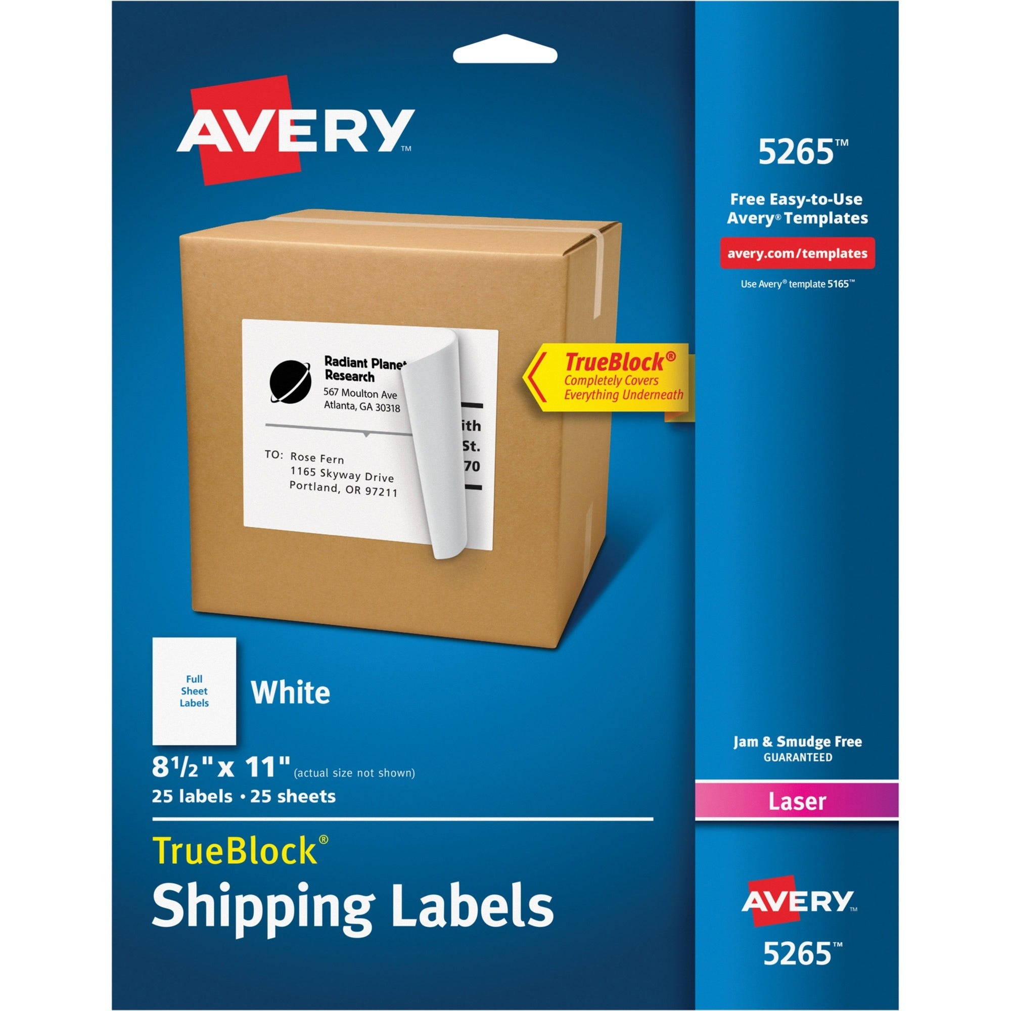 Avery® Shipping Labels - TrueBlock, SKU: AVE 5265
