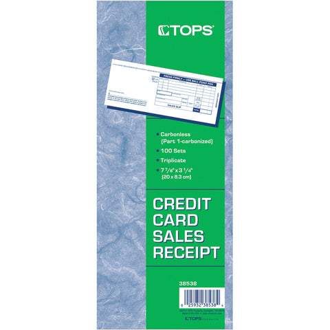 TOPS Credit Card Sales Slip Forms