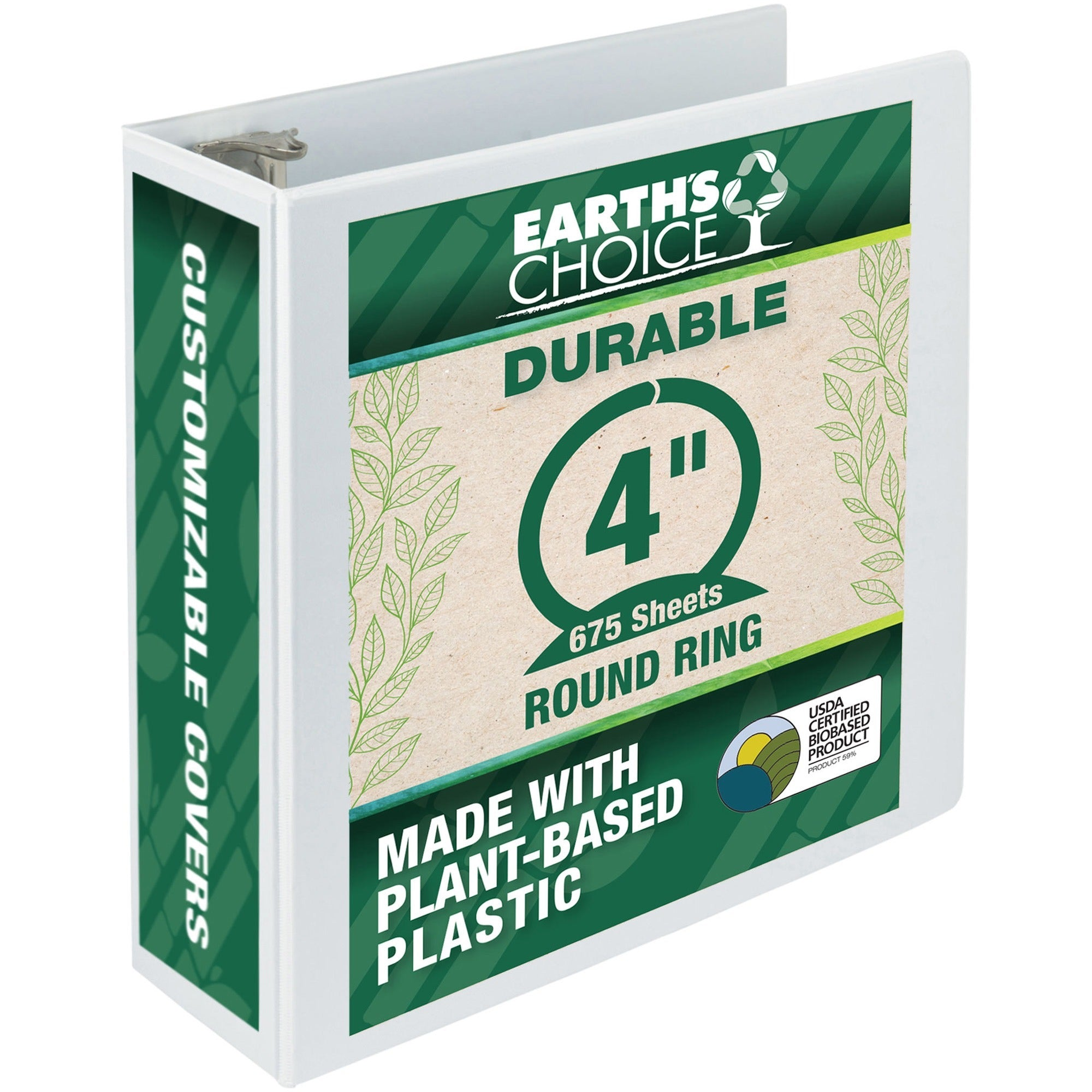 Samsill Earth's Choice Biobased USDA Certified View Binder