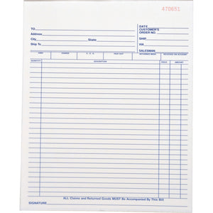 Business Source All-purpose Carbonless Forms Book