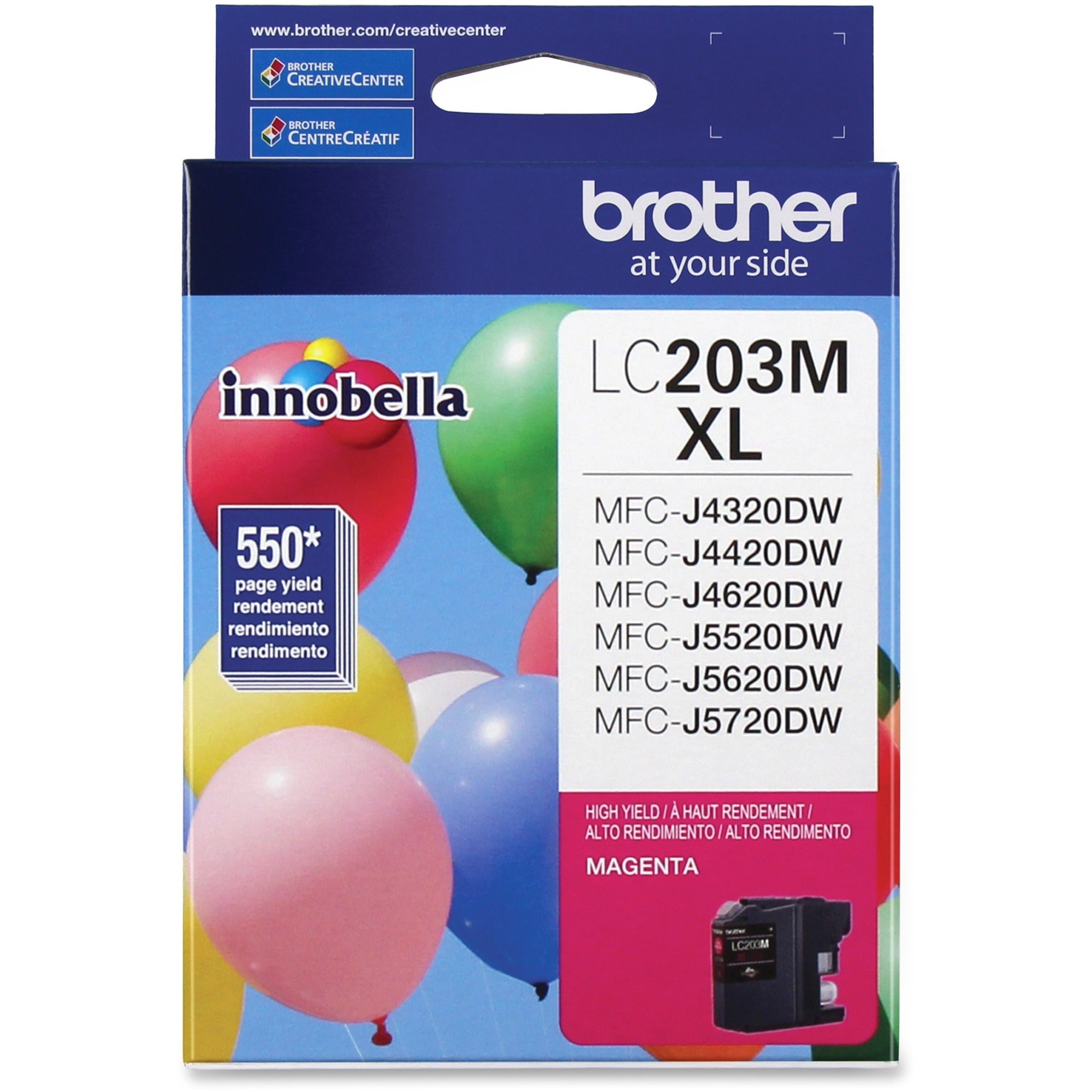 Brother Genuine Innobella LC203M High Yield Magenta Ink Cartridge