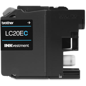 Brother Genuine LC20EC XXL INKvestment Super High Yield Cyan Ink Cartridge