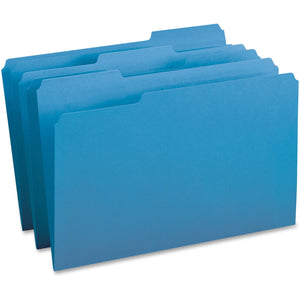 Business Source 1/3-cut Tab Legal Colored File Folders