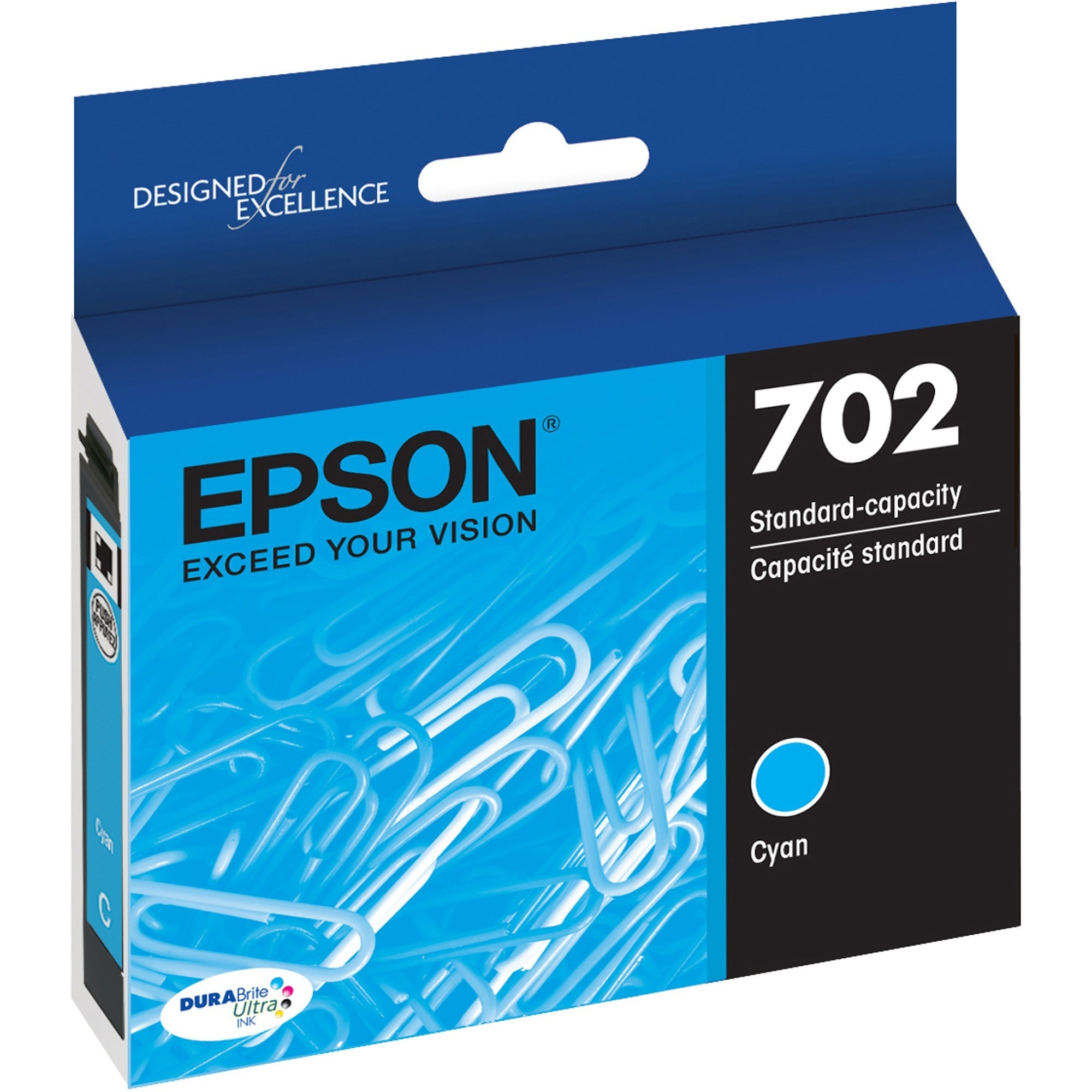 Epson DURABrite Ultra T702 Original Ink Cartridge - Cyan SKU: EPS T702220S
