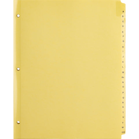 Business Source A-Z Clear Plastic Tab Index Dividers SKU: BSN 01806