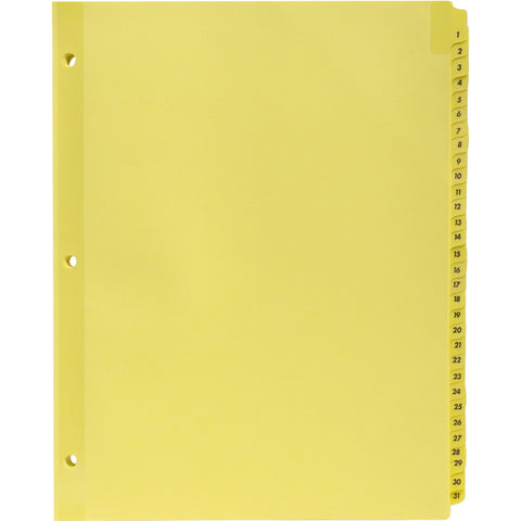Business Source Preprinted 1-31 Tab Index Dividers SKU: BSN 01808