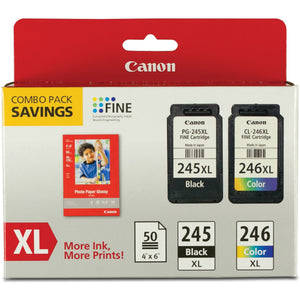 Canon PG-245 / CL-246 Original Ink Cartridge - Combo Pack - MulticolorSKU: CNM PG245XLCL246