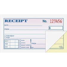 Adams Money/rent Receipt Books,  ABF DC2501