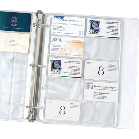C-Line Business Card Holder Pages for Ring Binders, Poly SKU: CLI 61217