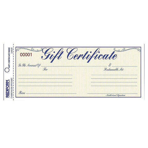 Rediform Gift Certificates with Envelopes