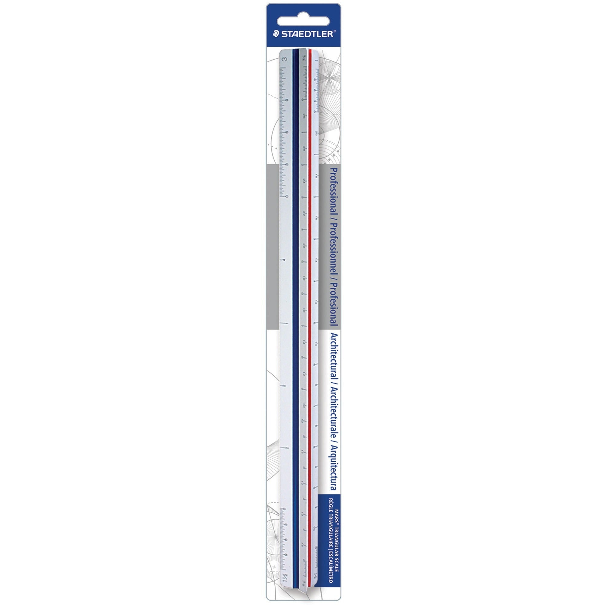 "Staedtler 12"" Architect Triangular ScaleSKU: STD 9871831BK"