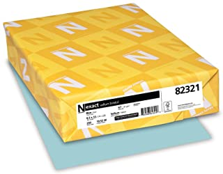 Neenah Paper Wausau Vellum Bristol Cardstock, 67 lb, 8.5 x 11 Inches, Pastel Blue, 250 Sheets (82321)
