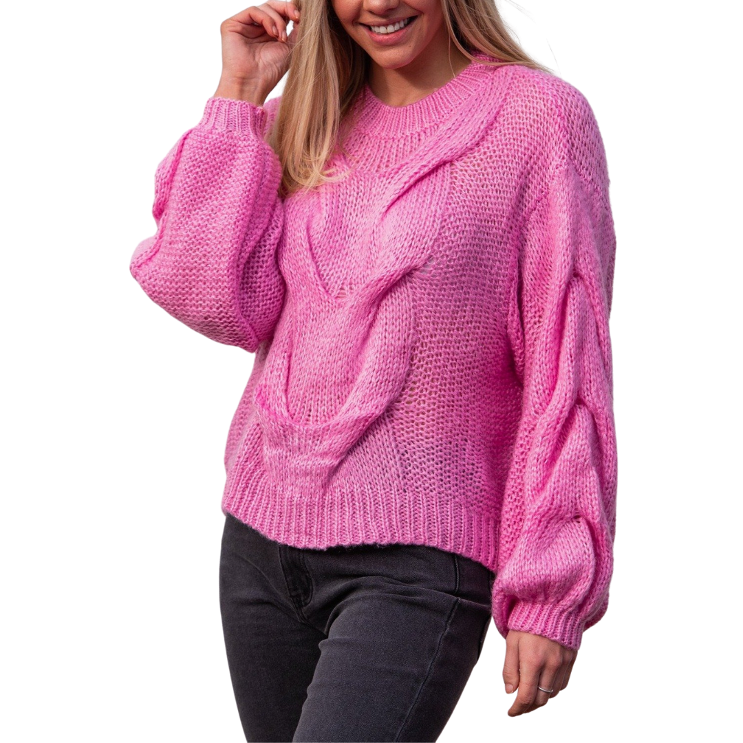 Stasi Knit - Candy Pink