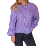 Load image into Gallery viewer, Stasi Knit - Vibrant Purple