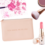 Load image into Gallery viewer, You make me Blush Makeup/Travel Pouch - Blush