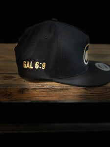 BLACK ATF SNAPBACK GOLD EDITION HAT