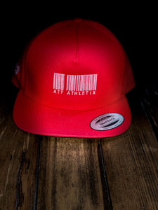 ATF BARCODE SNAP BACK RED AND WHITE
