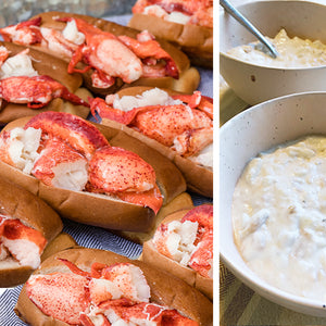 12 pack lobster roll kit and clam chowder