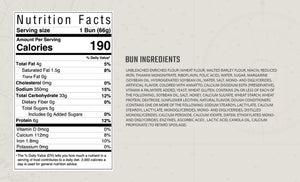 Lobster roll bun nutrition facts and ingredients