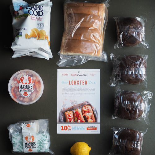 Fresh Maine lobster roll kit for 4 plus chips and whoopie pies