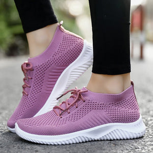Breathable Walking Mesh Lace Up Sneakers