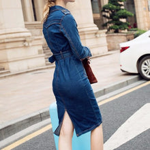 Load image into Gallery viewer, DAISY Winter Denim Dress