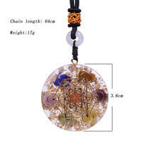 Load image into Gallery viewer, Orgonite Necklace Chakra Reiki