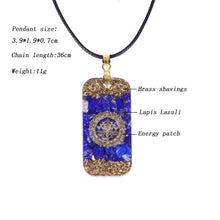 Load image into Gallery viewer, Orgonite Resin Chakra Stone Energy Pendant Necklace