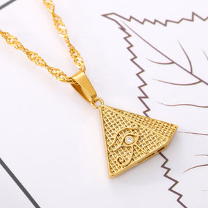 Egyptian Pyramid All-Seeing Eye Necklace