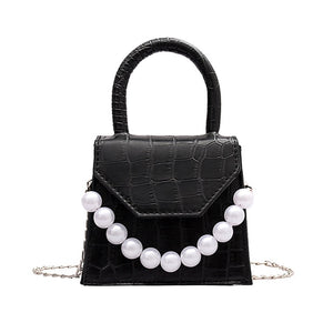 DAISY Pearl Pattern Design PU Leather Bag