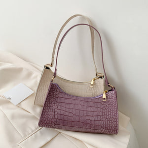 DAISY Alligator Design Leather Handbag
