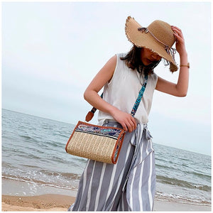 Ethnic Mini Straw Bag