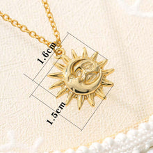 Load image into Gallery viewer, Vintage Sun And Moon Necklace