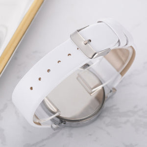 White Case Leather Strap Bracelet