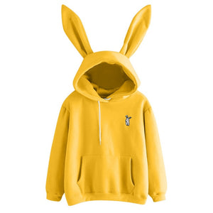 Cute Bunny Pullover Hoodie with Ears