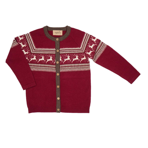 MeMini Comet Cardigan Red