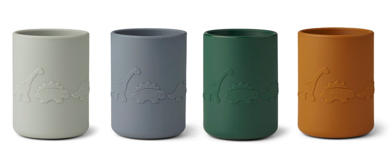 Liewood Ethan Cups 4pk Dino Blue Multi Mix