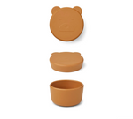 Liewood Carrie Snack Box Silicone Bear Mustard