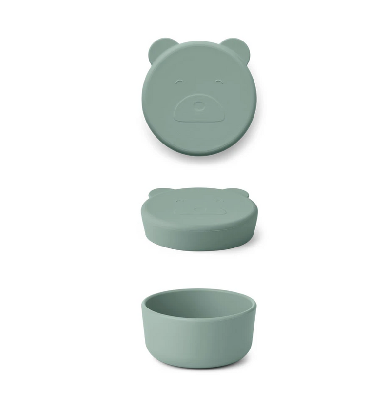 Liewood Carrie Snack Box Silicone Bear Peppermint