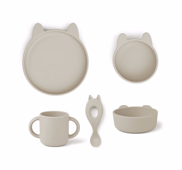 Liewood Vivi Silicone Set Rabbit Sandy