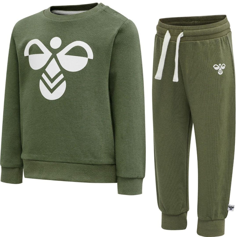 Hummel Arin Crewsuit Deep Lichen Green