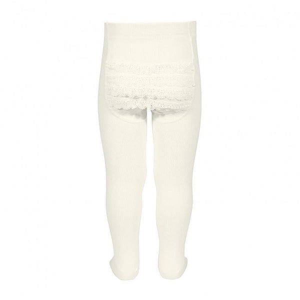 Cóndor Strømpebukse Lace Bottom Off White - Lillemaja