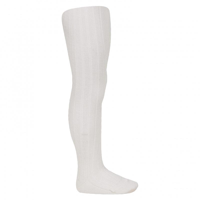Cóndor Wool Rib Tights Cream - Lillemaja
