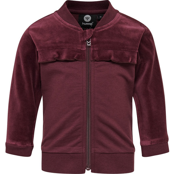 Hummel Tala Velour Zip Jacket Fig - Lillemaja