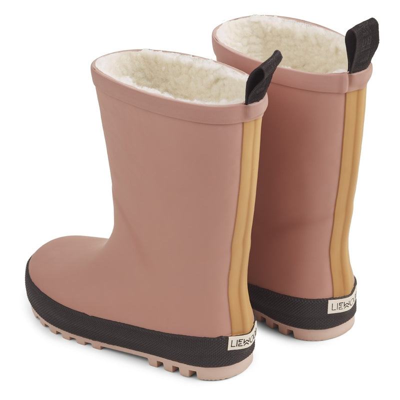Liewood Mason Thermo Rain Boot Dark Rose Mix -Rosa - Lillemaja