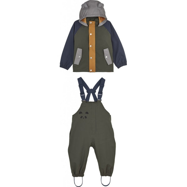 Liewood Dakota Rainwear Hunter Green Multi Mix FORHÅNDSBESTILL - Lillemaja