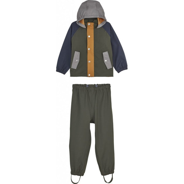 Liewood Parker Rainwear Hunter Green Multi Mix FORHÅNDSBESTILL - Lillemaja