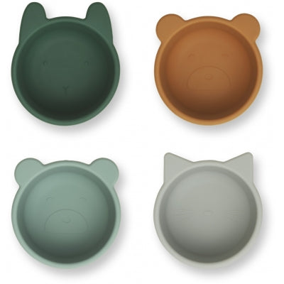 Liewood Malene Bowl 4pk Green Multi Mix