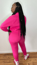 Load image into Gallery viewer, Wanna Be Down (Hot Pink) Jogger Set